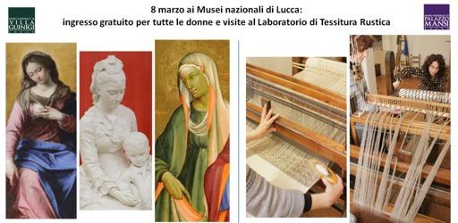 invito 8marzo ai Musei nazionali di Lucca