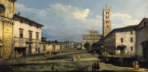 Bernardo-Bellotto-Piazza-San-Martino-con-la-cattedrale-Lucca-1740-York-City-Art-Gallery
