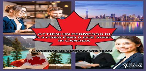 Lavora due anni in Canada